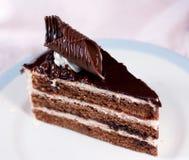 Φέτα κέικ σοκολάτας. Στοκ Φωτογραφία
