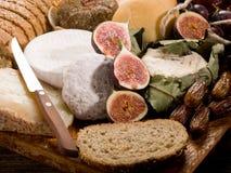φέτα καρπού τυριών ψωμιού Στοκ Εικόνα