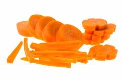 Φέτα καρότων που απομονώνεται Στοκ Εικόνες