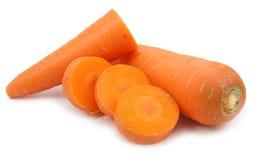 Φέτα καρότων που απομονώνεται Στοκ φωτογραφία με δικαίωμα ελεύθερης χρήσης