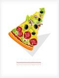φέτα πιτσών Στοκ Εικόνα