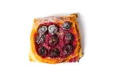 Φέτα πιτών φρούτων στο άσπρο υπόβαθρο Στοκ Φωτογραφίες