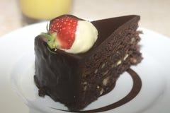 φέτα σοκολάτας κέικ Στοκ Εικόνα
