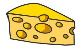 Φέτα της απεικόνισης τυριών Στοκ Εικόνες