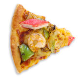 Φέτα της πίτσας με τα θαλασσινά Στοκ Εικόνες