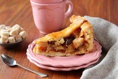 Φέτα της σπιτικής ολλανδικής πίτας μήλων Στοκ Εικόνα