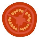Φέτα της φρέσκιας ντομάτας που απομονώνεται σε ένα άσπρο υπόβαθρο Απεικόνιση αποθεμάτων