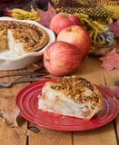 Φέτα της φρέσκιας πίτας της Apple Στοκ φωτογραφίες με δικαίωμα ελεύθερης χρήσης