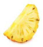 Φέτα του ανανά που απομονώνεται σε ένα λευκό Λεπτομερές ρετουσάρισμα Στοκ Φωτογραφία