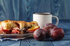 Φέτα του βαυαρικού plumcake Στοκ φωτογραφία με δικαίωμα ελεύθερης χρήσης