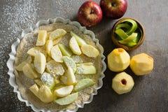 Φέτα του μήλου σε ξινό με τη ζάχαρη τήξης Στοκ φωτογραφία με δικαίωμα ελεύθερης χρήσης