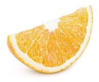 Φέτα του πορτοκαλιού εσπεριδοειδούς που απομονώνεται στο λευκό Στοκ Φωτογραφίες