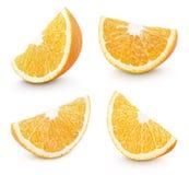 Φέτα του πορτοκαλιού εσπεριδοειδούς στο λευκό Στοκ Εικόνες