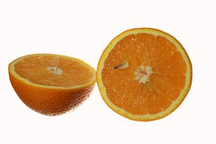 Φέτα του φρέσκου πορτοκαλιού που απομονώνεται Στοκ Εικόνα