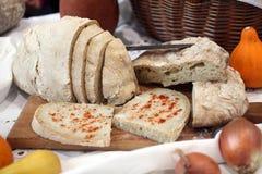 Φέτα ψωμιού με το λαρδί Στοκ Εικόνα
