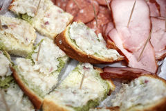 Φέτα ψωμιού με το λαρδί Στοκ Εικόνες