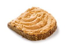 φέτα ψωμιού που διαδίδετ&alpha Στοκ Εικόνα