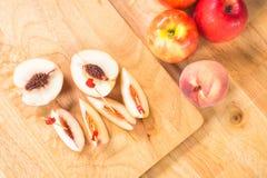 Φέτα Peachs Στοκ εικόνες με δικαίωμα ελεύθερης χρήσης