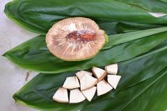 Φέτες αρτόκαρπων στις νήσους Rarotonga Κουκ Στοκ Φωτογραφία