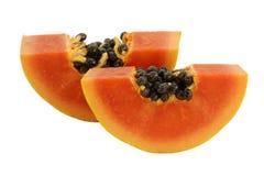 Φέτες γλυκό papaya Στοκ φωτογραφία με δικαίωμα ελεύθερης χρήσης