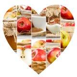 Φέτες μιγμάτων της Apple Στοκ Εικόνες