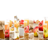 Φέτες μιγμάτων της Apple Στοκ Εικόνα