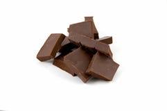 φέτες πικρής σοκολάτας Στοκ εικόνες με δικαίωμα ελεύθερης χρήσης
