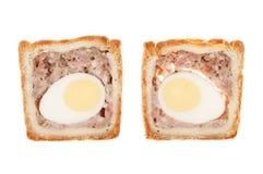 Φέτες πιτών χοιρινού κρέατος και αυγών Στοκ Εικόνες