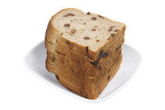 φέτες σταφίδων ψωμιού Στοκ φωτογραφία με δικαίωμα ελεύθερης χρήσης