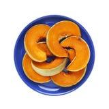 Φέτες της ψημένης κολοκύθας - απομονωμένο αντικείμενο, τρόφιμα Στοκ εικόνα με δικαίωμα ελεύθερης χρήσης