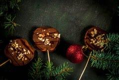 Φέτες της Apple στη σοκολάτα Στοκ Φωτογραφία