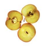 Φέτες της Apple στο λευκό Στοκ Φωτογραφία