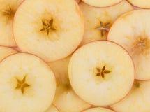 Φέτες της Apple ως υπόβαθρο Στοκ εικόνα με δικαίωμα ελεύθερης χρήσης