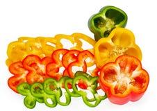 Φέτες του γλυκού πιπεριού Στοκ εικόνα με δικαίωμα ελεύθερης χρήσης