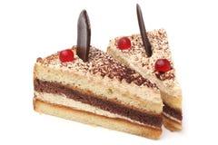 Φέτες του κέικ κρέμας στοκ εικόνες