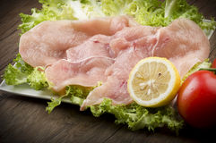 Φέτες του κοτόπουλου Στοκ φωτογραφία με δικαίωμα ελεύθερης χρήσης