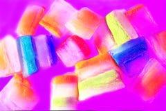 Φέτες του πάγου με τα εναλλασσόμενα χρώματα Στοκ Φωτογραφίες