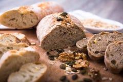 Φέτες του ψωμιού σίκαλης Στοκ φωτογραφία με δικαίωμα ελεύθερης χρήσης