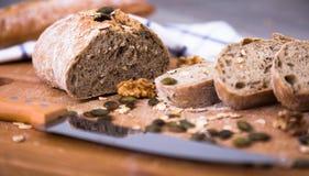 Φέτες του ψωμιού σίκαλης Στοκ εικόνα με δικαίωμα ελεύθερης χρήσης