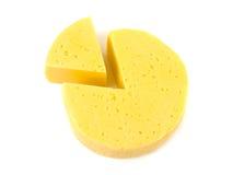 Φέτες του lika τυριών ένα διάγραμμα κύκλων Στοκ Εικόνες