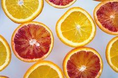 Φέτες των πορτοκαλιών Στοκ Εικόνα