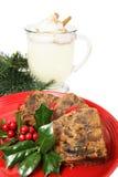 φέτες Χριστουγέννων fruitcake Στοκ εικόνες με δικαίωμα ελεύθερης χρήσης
