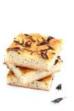 φέτες focaccia ψωμιού Στοκ Φωτογραφίες