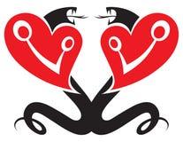 φίδια δύο διανυσματική απεικόνιση