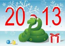 Φίδι Χριστουγέννων ελεύθερη απεικόνιση δικαιώματος