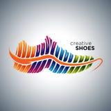 Φίλαθλα δημιουργικά παπούτσια διανυσματική απεικόνιση