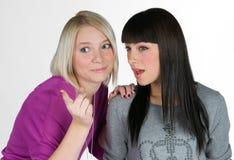 φίλες εφηβικά δύο Στοκ Εικόνες