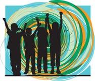 Φίλοι. Διανυσματική απεικόνιση Στοκ φωτογραφίες με δικαίωμα ελεύθερης χρήσης