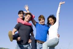 φίλοι ευτυχείς στοκ φωτογραφίες με δικαίωμα ελεύθερης χρήσης