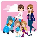 Φίλοι μητέρων απεικόνιση αποθεμάτων